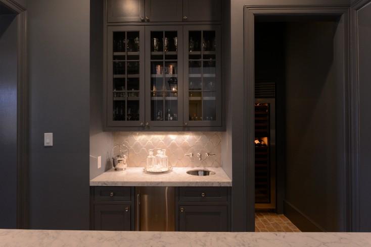 black kitchen ideas transitional