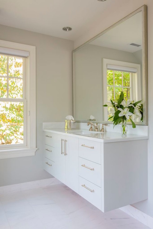 Floating vanities are a great alternative to classic vanities