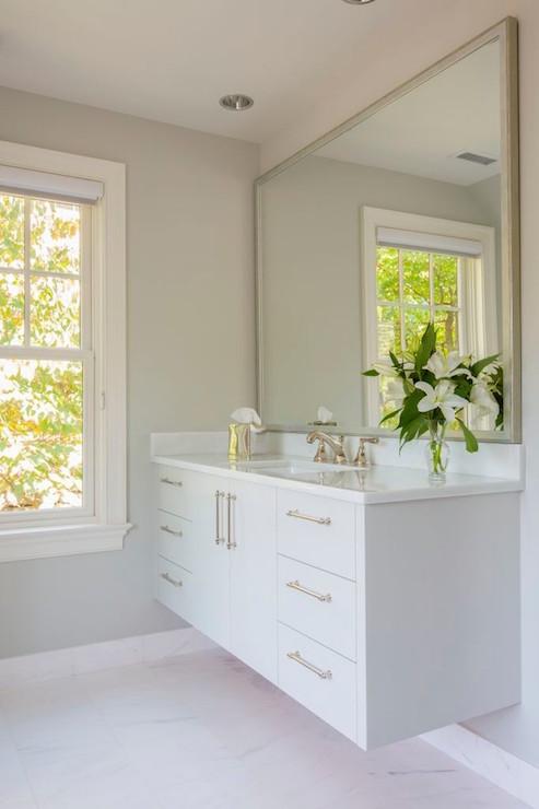 Floating vanities are a great alternative to classic vanities