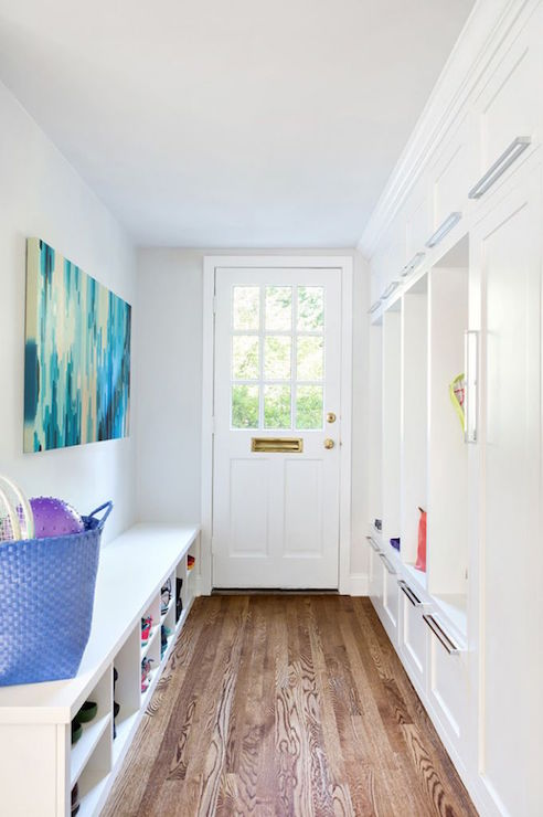Mudroom Bench With Shoe Storage Contemporary Laundry