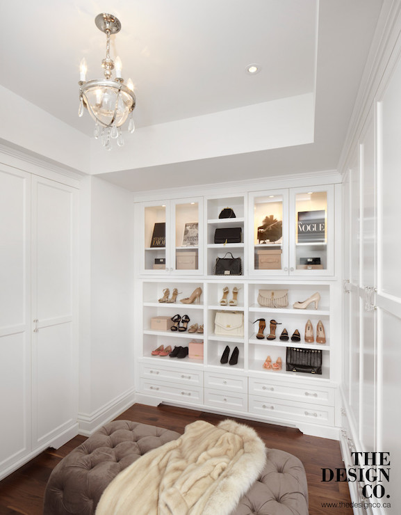 Closet With Tray Ceiling Transitional Closet The Design Company