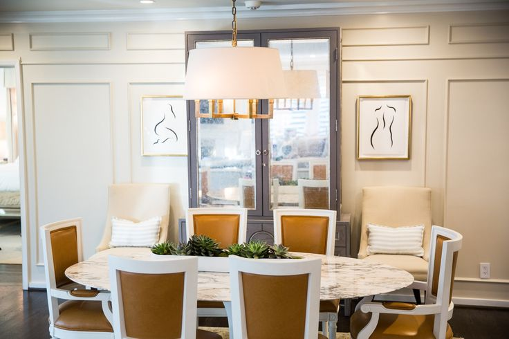 Gray Mirrored Hutch And Sideboard Transitional Dining