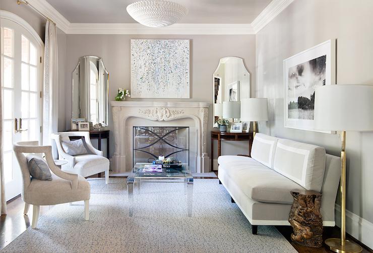 Gray Velvet Armless Sofa