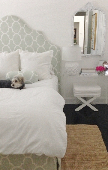 Acrylic Nightstand Transitional Bedroom Luxe Report