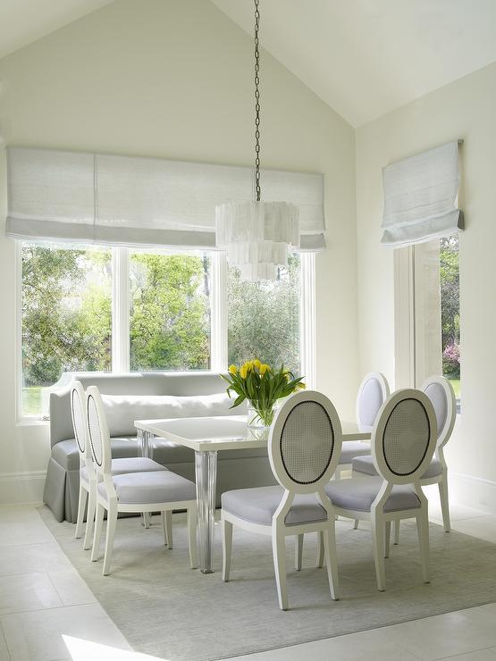 Dining Table With Acrylic Legs Transitional Dining Room