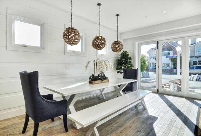 White X Based Dining Table