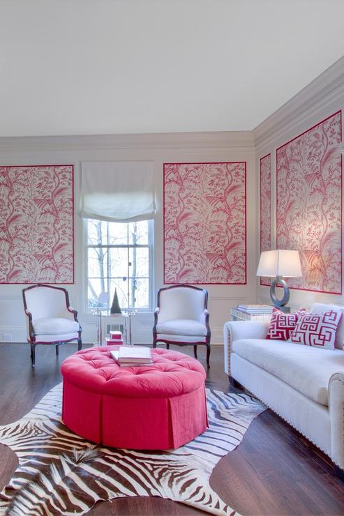 Pink Living Rooms Contemporary Living Room