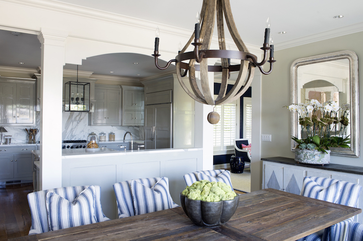 BoBo Intriguing Objects Black Wine Barrel Chandelier Cottage Dining Room