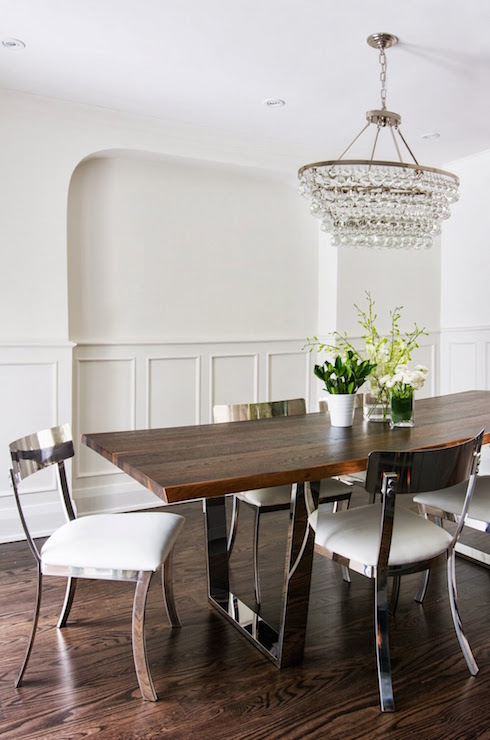Klismos Chairs Traditional Dining Room Kara Cox Interiors