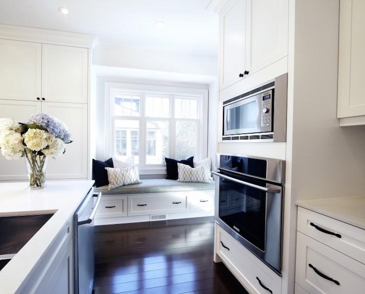 Built In Window Seat In Kitchen Transitional Kitchen