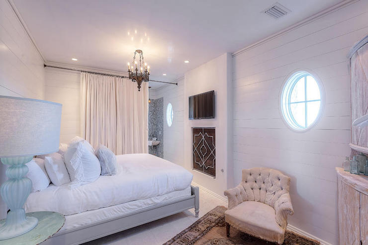 Beach Cottage Bedroom With Fireplace Cottage Bedroom