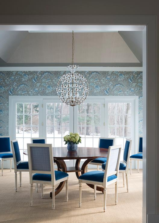 Turquoise Dining Chairs Eclectic Dining Room Tobi Fairley