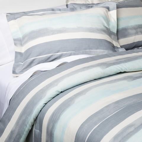 nate berkus watercolor gray stripe
