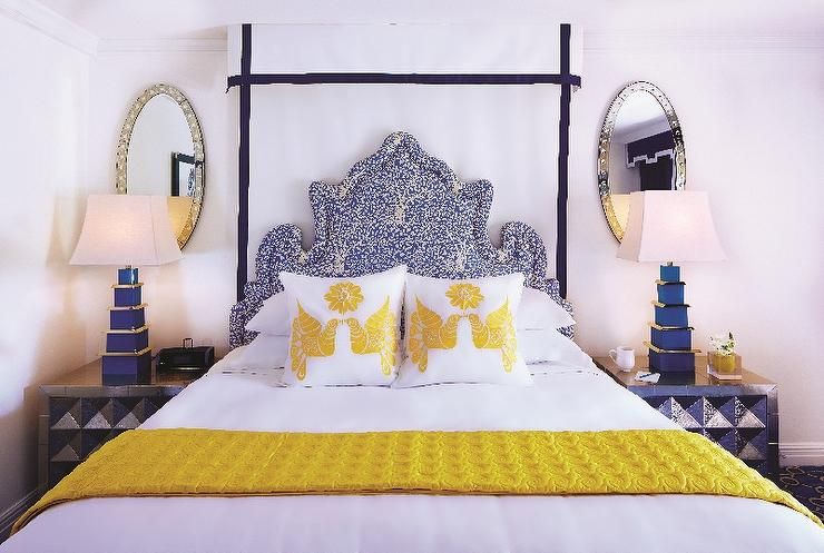 Yellow And Blue Bedrooms Contemporary Bedroom