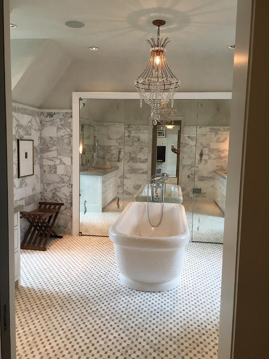 Bathroom With Hidden Shower And Toilet