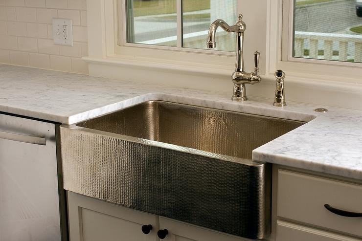 hammered kitchen sink transitional