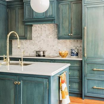 Blue White Washed Cabinets Home Decor