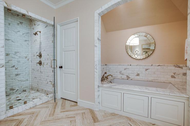 Peach Bathroom Paint Design Ideas