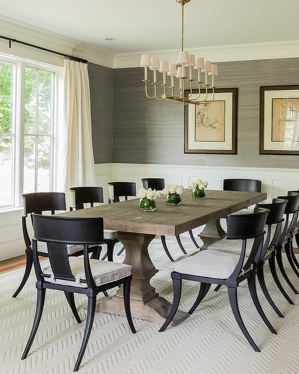 Black Klismos Dining Chairs