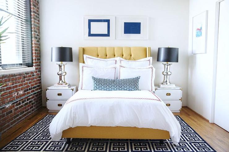 Yellow And Black Bedrooms Contemporary Bedroom