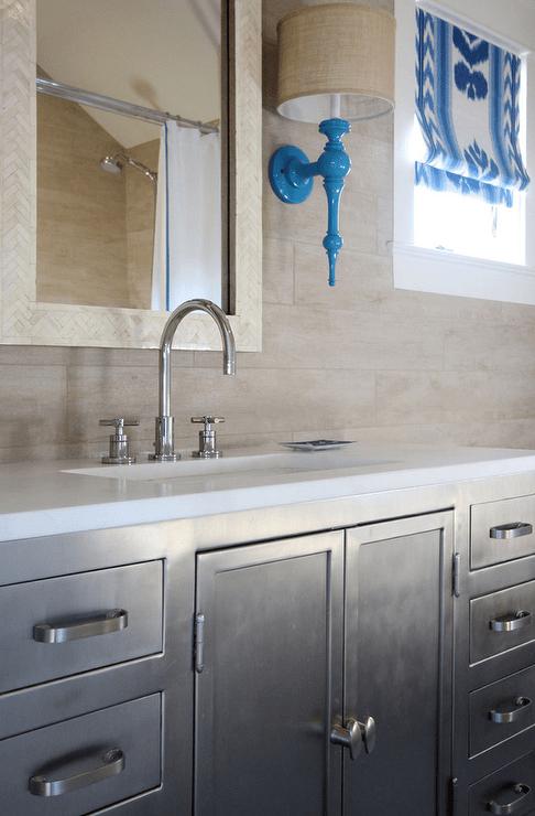 metal industrial bathroom vanity
