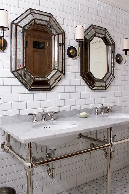 Octagon Bathroom Mirrors Design Ideas
