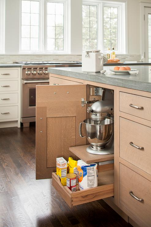 Charming Wire Brushed Oak Cabinets Cottage Kitchen Venegas And Company