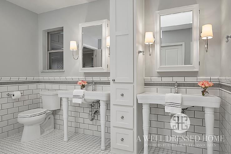gray glass border trim tiles