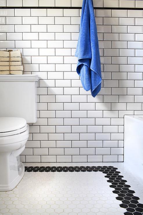 white hex tile floor