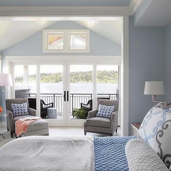 Gray Bedroom Sitting Area
