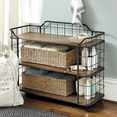 Estes Short Bakers Rack In Black And Brown