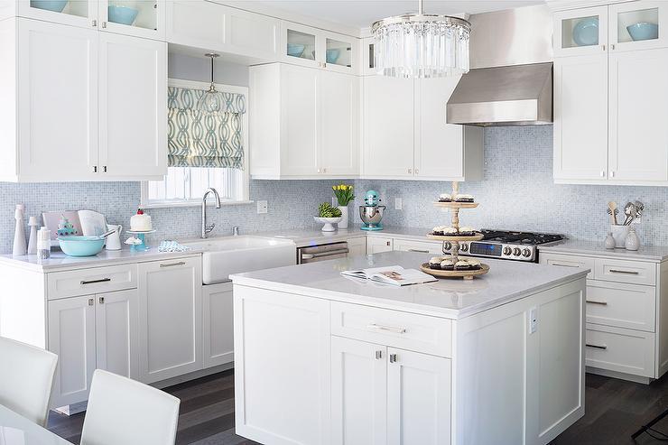 Blue Mosaic Kitchen Backsplash Design Ideas
