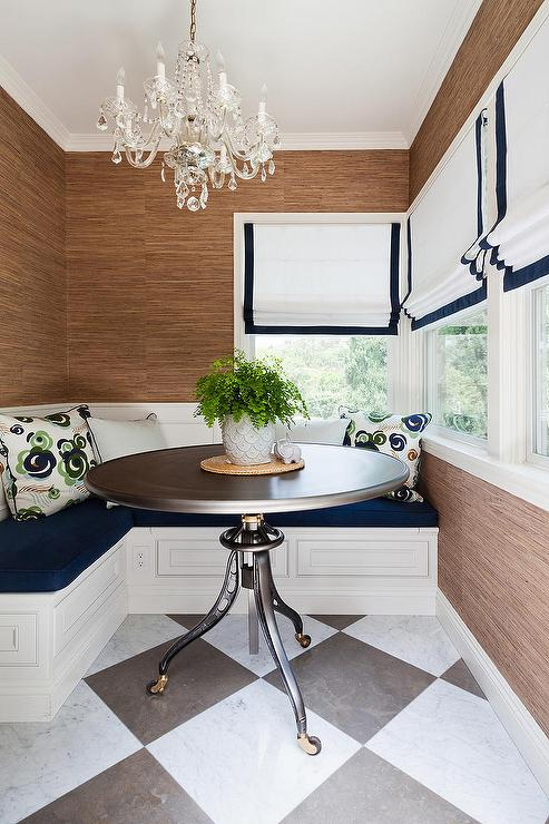 Breakfast Nook With L Shaped Banquette Transitional