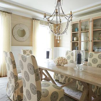 Cream And Gold Dining Room