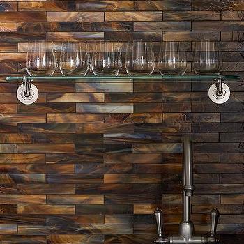 iridescent copper backsplash design ideas