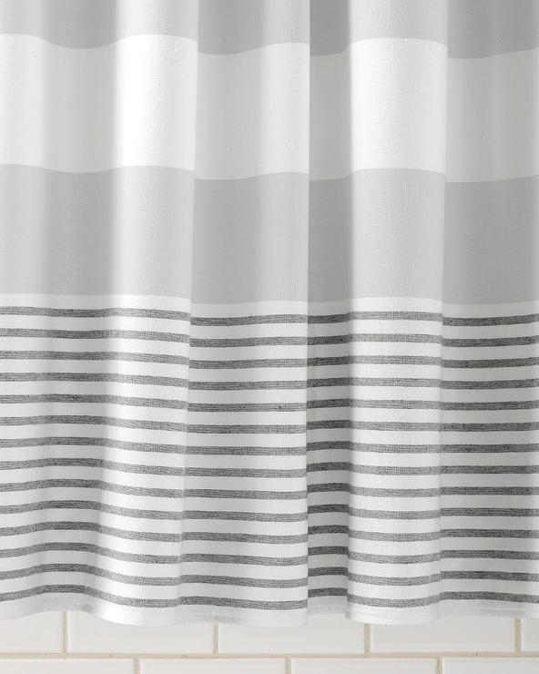 fouta grey shower curtain