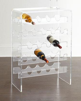 allegra clear acrylic wine rack