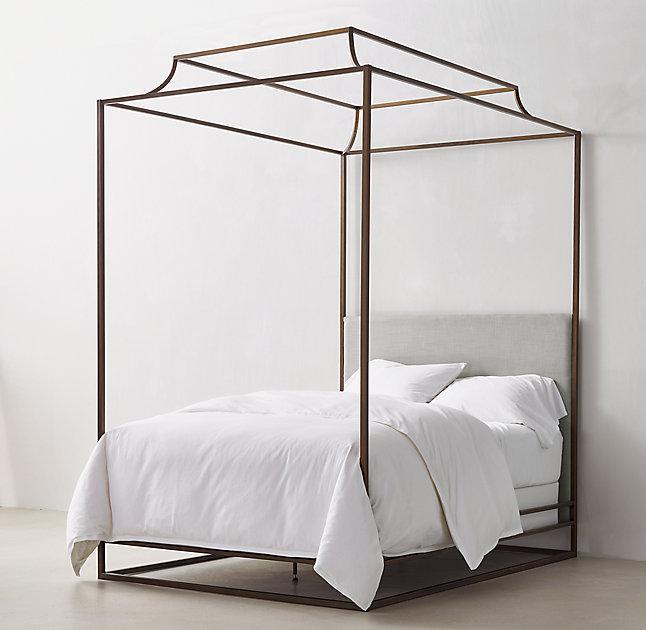 Ellipse Metal Canopy Bed West Elm