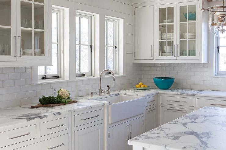 calcutta gold marble kitchen