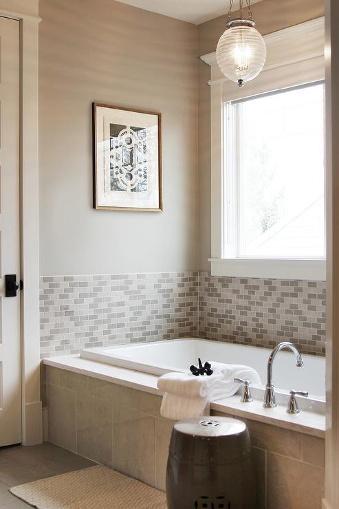 half tiled tub surround design ideas