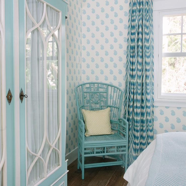 Turquoise Bedroom With Tiffany Blue Armoire