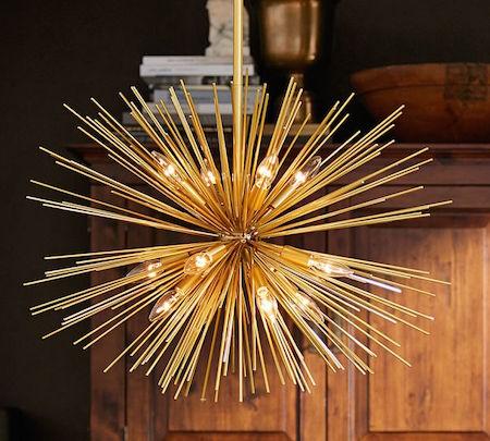 699 00 Finds Brass Urchin Chandelier