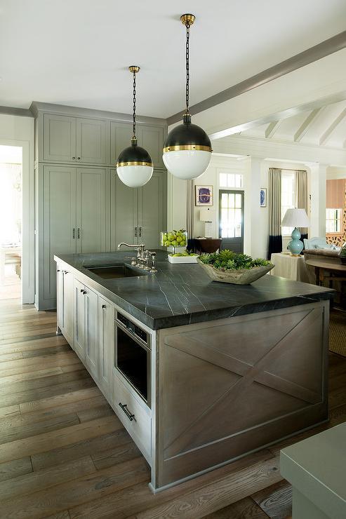 Pietra Gray Honed Marble Countertop Contemporary Kitchen