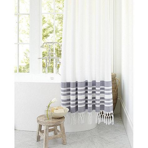 indigo turkish shower curtain