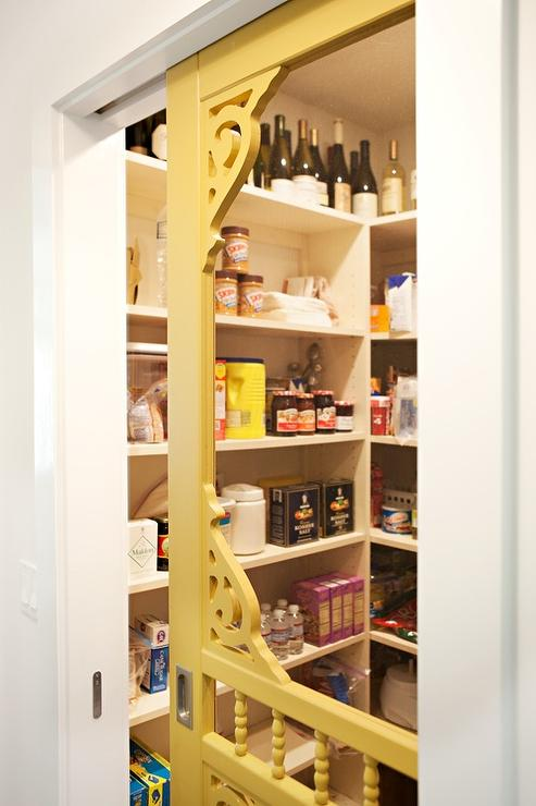 Vintage Pantry With Yellow Door Vintage Kitchen
