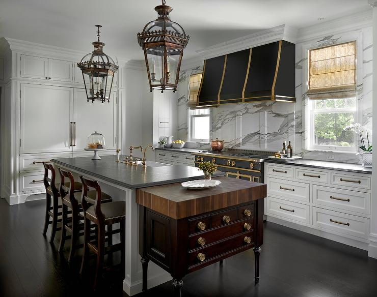 Black And Gold KItchen Hood With French Black And Gold