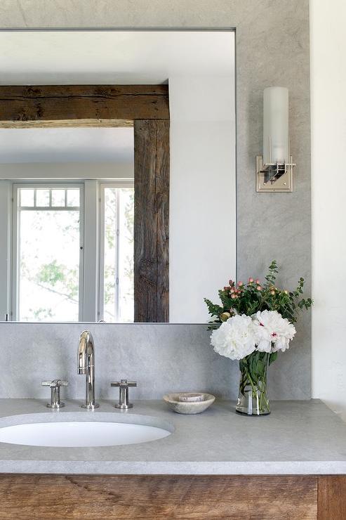 reclaimed wood floating vanity design ideas