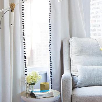 Great Pom Curtains Design Ideas
