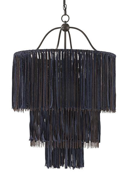 Blue And Black Boho Chandelier Design By Currey Company