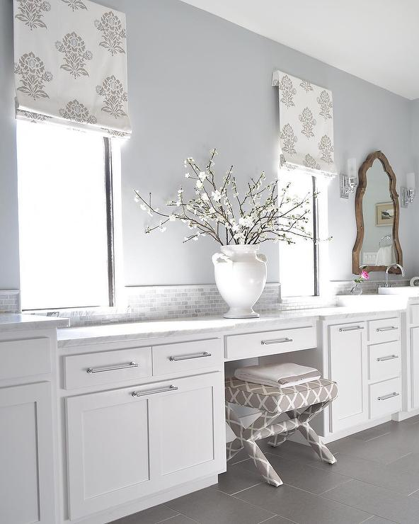 Carrara Marble Countertops Transitional Bathroom